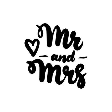 Mr and Mrs Handwritten Lettering