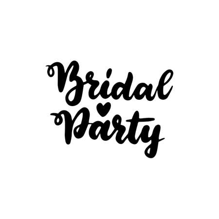 Handwritten Lettering Bridal Party