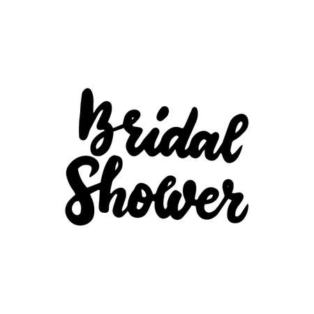 Bridal Shower Handwritten Lettering Vectores