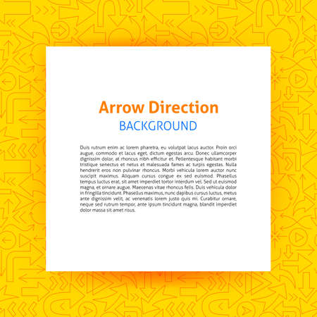 Arrow Direction Paper Template  イラスト・ベクター素材