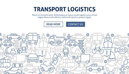 Transport Logistics Banner Design Zdjęcie Seryjne - 138110413