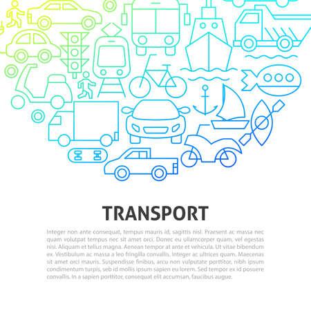 Transport Line Concept. Vector Illustration of Outline Design. Zdjęcie Seryjne - 138115121