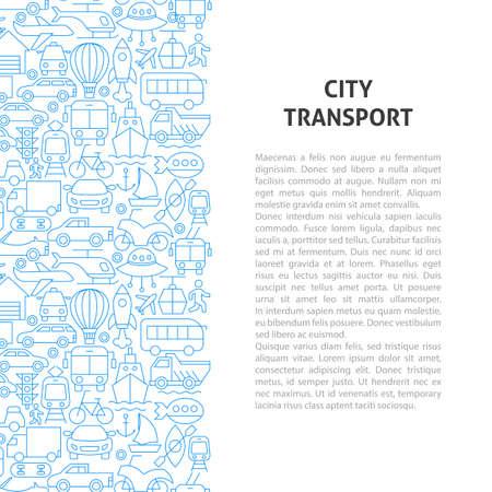 City Transport Line Pattern Concept. Vector Illustration of Outline Design. Zdjęcie Seryjne - 138134136