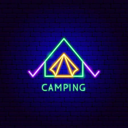 Camping Neon Label