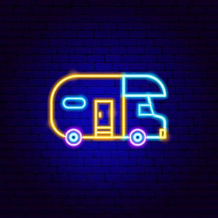 Trailer Neon Sign Vektorgrafik