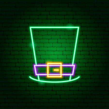 Irishman Hat Neon Sign