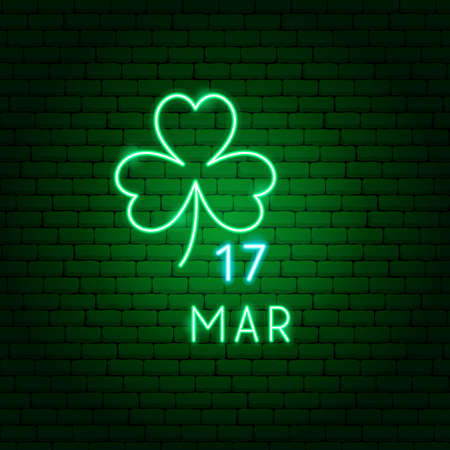 Clover 17 March Neon Label
