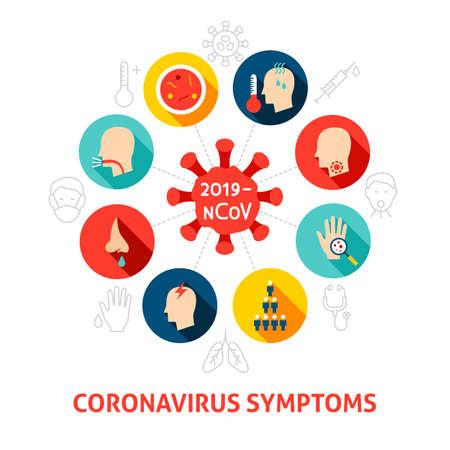 Coronavirus Symptoms Concept Icons