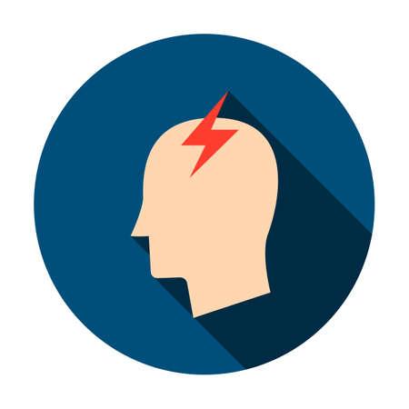 Headache Circle Icon