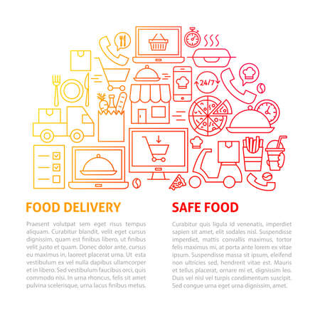 Food Delivery Line Template