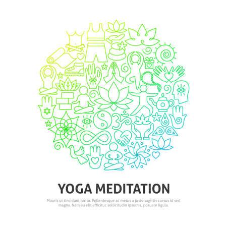 Yoga Meditation Circle Concept