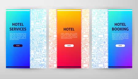 Hotel Web Design Ilustracja