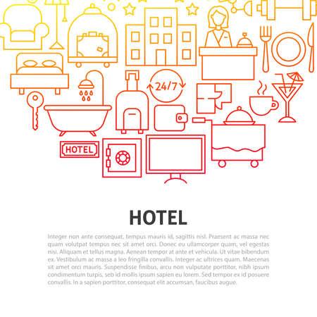 Hotel Line Concept Ilustracja