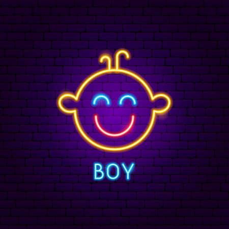 Boy Neon Label