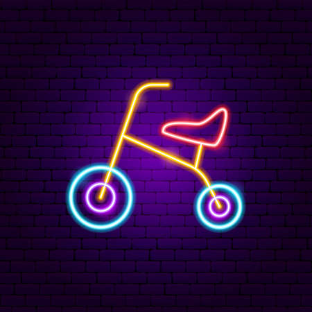 Child Bicycle Neon Sign