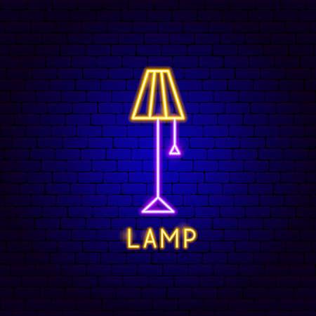Lamp Neon Label