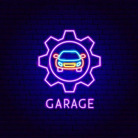 Garage Neon Label