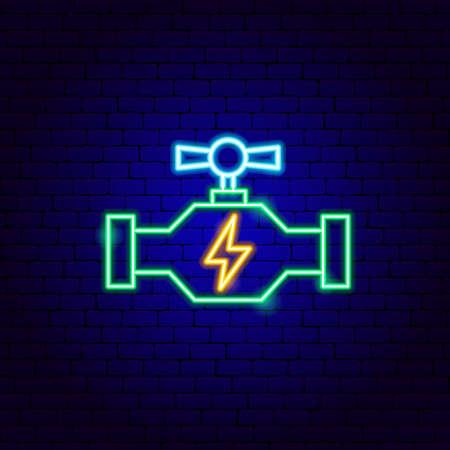 Energy Tube Neon Sign