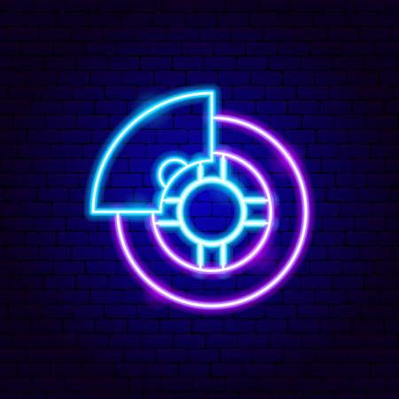 Car Wheel Neon Sign