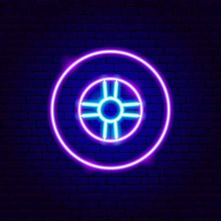 Car Tire Neon Sign