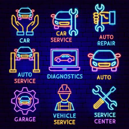 Car Service Label Set