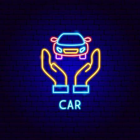 Car Neon Label