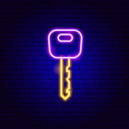 Car Key Neon Sign