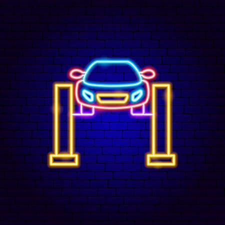 Car Jack Neon Sign