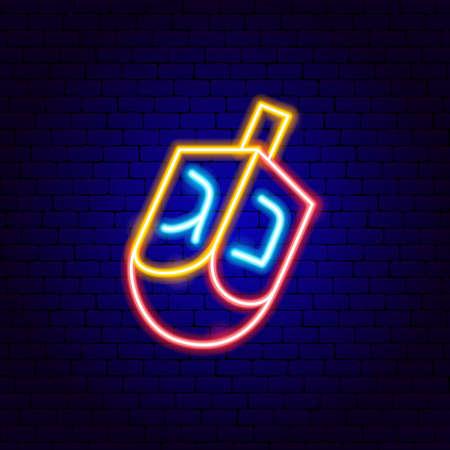 Dreidel Jewish Neon Sign