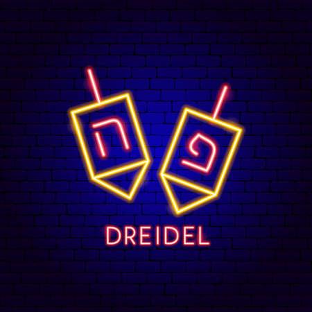 Dreidel Neon Label
