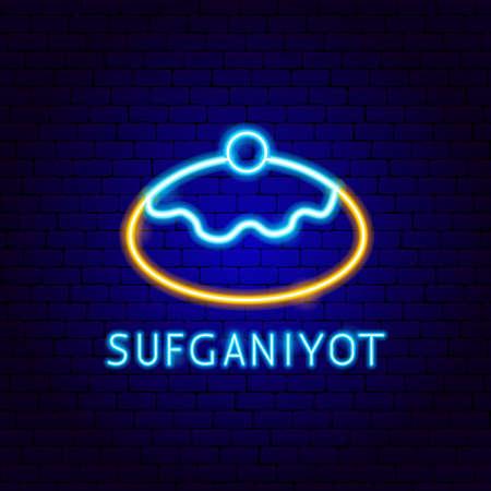 Sufganiyot Neon Label