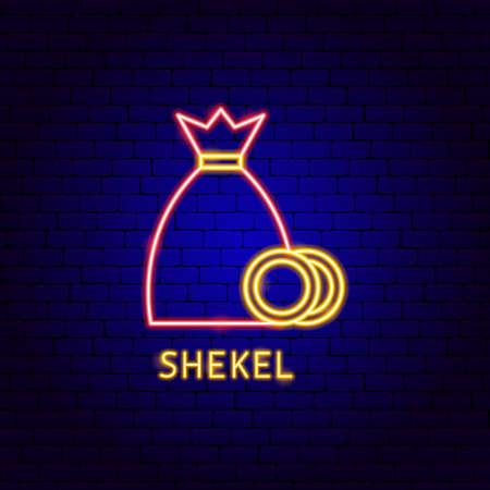 Shekel Money Neon Label