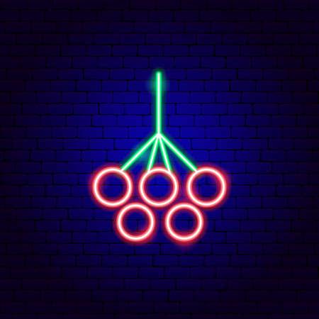 Rowanberry Neon Sign Vettoriali