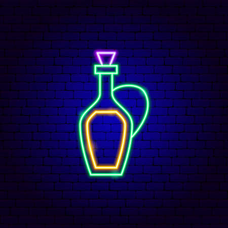 Olive Oil Bottle Neon Sign