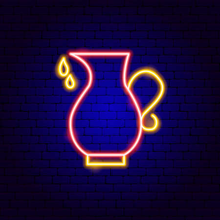 Oil Pitcher Neon Sign