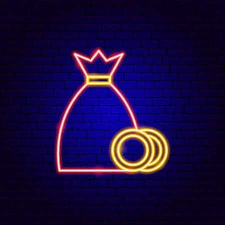 Money Bag Neon Sign