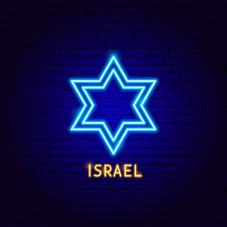 Israel Neon Label