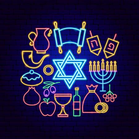 Happy Hanukkah Neon Concept