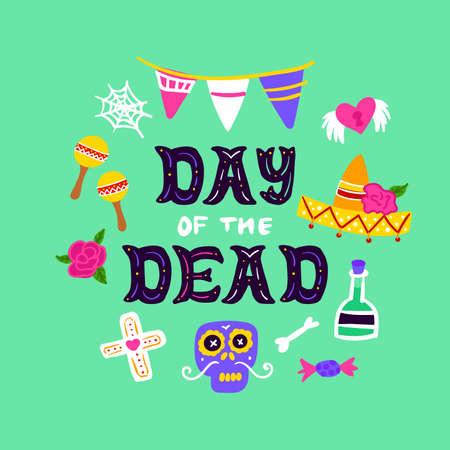 Day Dead Handwritten Card