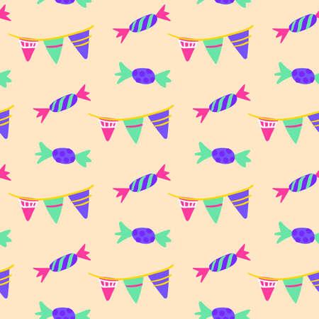 Celebration Candy Seamless Pattern Vettoriali