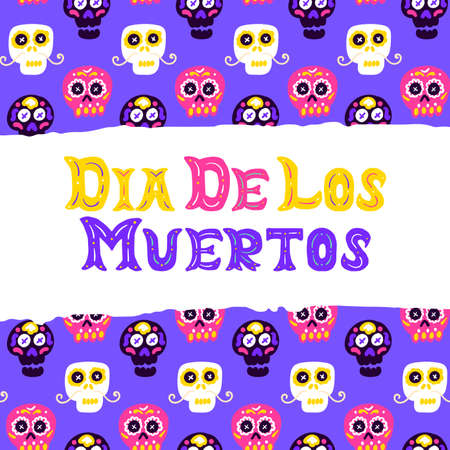 Dia Los Muertos Postcard Design Vettoriali