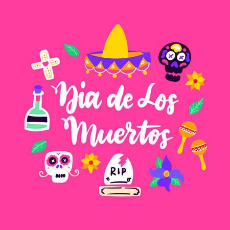 Dia Los Muertos Handwritten Card