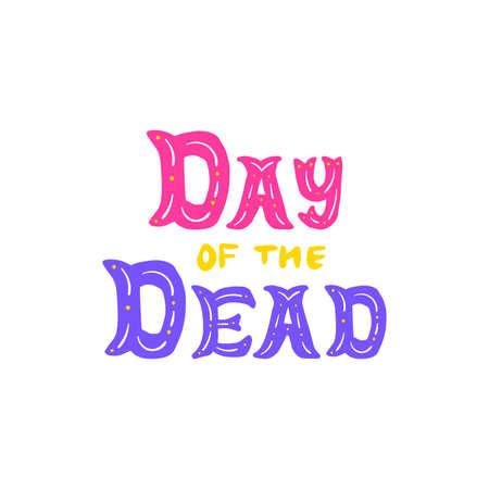 Day Of Dead Handwritten Lettering Vettoriali
