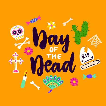 Day Of Dead Handwritten Card