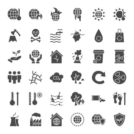 Climate Change Solid Web Icons