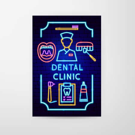 Dental Clinic Neon Flyer