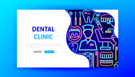 Dental Clinic Neon Landing Page