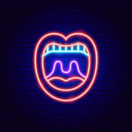 Open Mouth Neon Sign