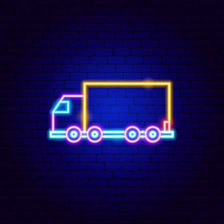 Truck Trailer Neon Sign