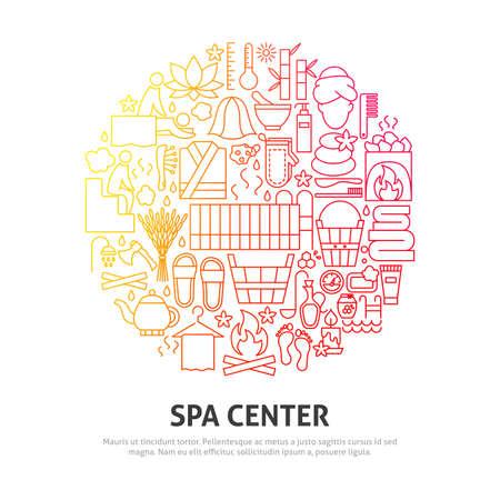 Spa Center Circle Concept Vector Illustratie